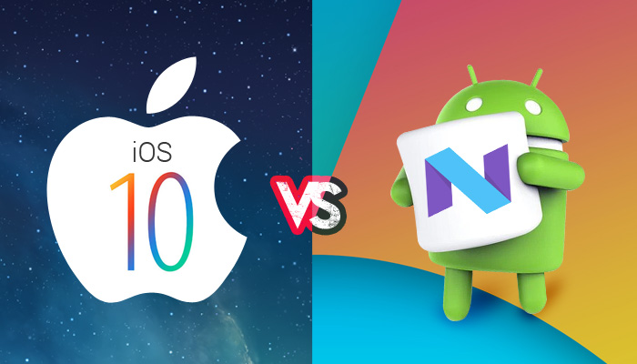 apple ios 10 vs android nougat 7, ios 10, android nougat 7, android latest version, apple latest version, latest operating system