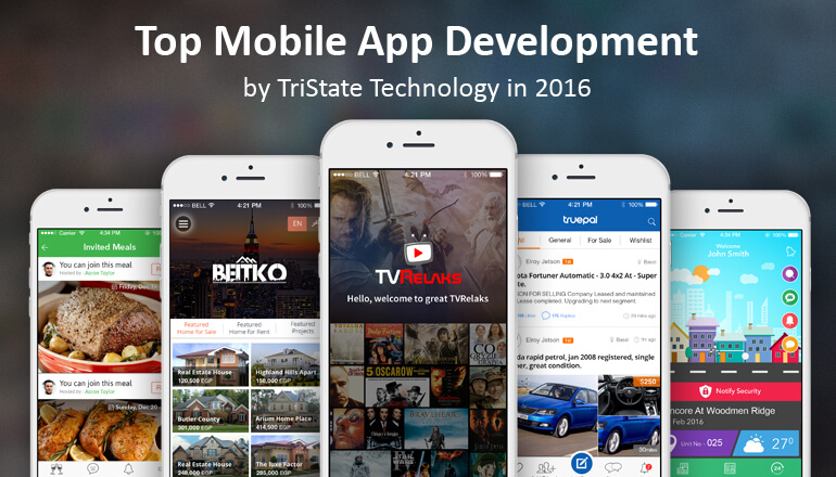 Top Mobile app development by TriState Technology in 2016